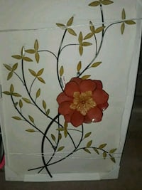 white and red flower painting Lithonia, 30038