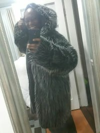 Life of the party fur jacket. Not real fur.