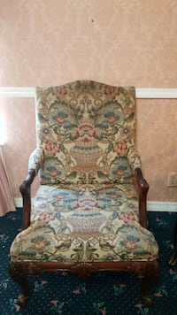brown and white floral armchair Tulsa, 74106