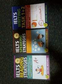 four assorted-title books