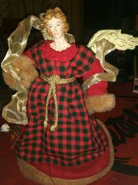 girl wearing red and white dress doll Columbia, 38401