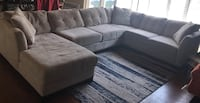 Gray fabric sectional sofa  Woodland Park, 07424