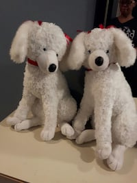 two white plush poodles Burlington, L7M
