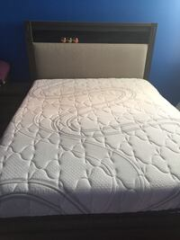 quilted white and gray floral mattress Toronto, M3C 3E2
