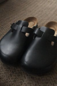 BIRKENSTOCK pure leather slip ons wore only twice size 36
