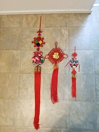 3 Chinese wall hangings all three for $6 Victoria, V9A 6A6