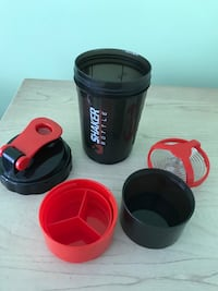 Shaker bottle with protein cup attached  Toronto, M1P 1H6