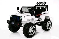 white and black Jeep Wrangler ride-on toy