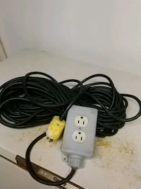 EXTENSION CORD // 100 FT. WITH...TWO PLUG BOX