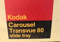 Two kodak carousel transvue 80 slide tray New Carrollton, 20784