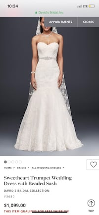 Wedding dress size 8 2337 mi
