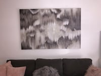 White and black abstract painting Los Angeles, 90048