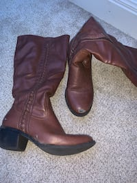 Nicole Brand, Brown Knee-High Boots - Size 7 1/2 in Womens