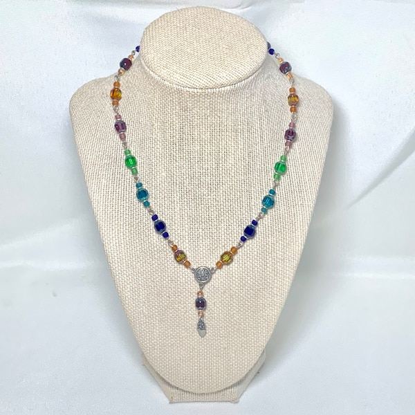 Vintage Sterling Silver Beaded Chakra Necklace 9fcd7307-6cf9-41a0-a55a-ef40b25fe8f3