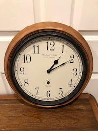 Awesome Sterling & Noble Wood Wall Clock!