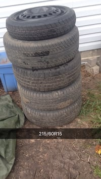 215/60r15 full set of tires and spare Fort Kent, T0A 1H0