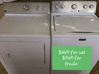white washer and dryer set 284 mi