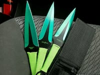 Green and black kuni throwing knives Lima, 45806