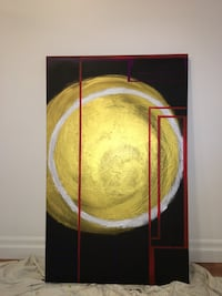 Golden Moon abstract acrylic painting 30inx48in Toronto, M6H 3G7