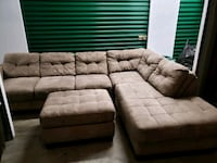 Microfiber Sectional Sofa with Ottoman  Silver Spring, 20906