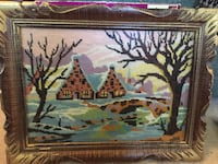 Art work with vintage wooden frame and glass Saskatoon, S7H