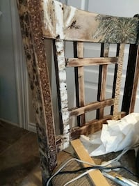 Carved painted and wood burnt chair  can reno any Ontario, L0R 1P0