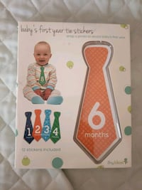baby's first year tie stickers for photos/mileston Calgary, T3K 4M2