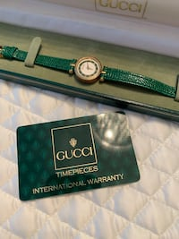 Authentic green leather Gucci watch Boisbriand, J7G 0A2