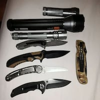 3 EXCELLENT CONDITION FLASH LIGHTS AND 5 KNIVES Nashville, 37214