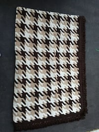 Brown Tan and Cream Bedspread