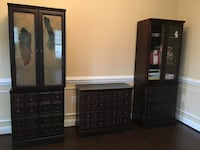 black wooden dresser with mirror 12 km