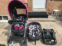 baby's black and pink travel system Vaughan, L4H 0N6
