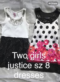 Two girls justice size 8 dresses 156 mi
