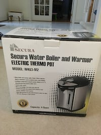 Secura Electric Water Boiler and Warmer 4-Quart Electric Hot Pot Kettle w/Night light Herndon, 20170