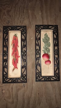 Peppers and radishes wall decor  239 mi