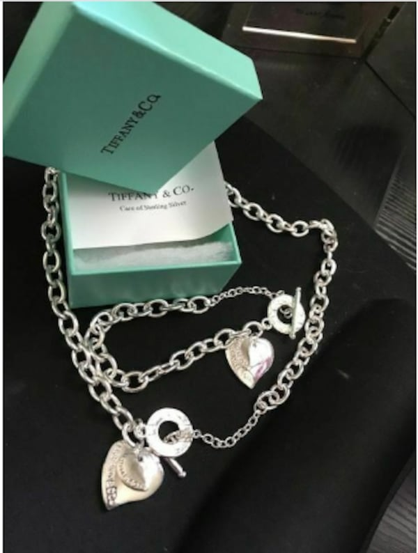 """REDUCED"" . BIRTHDAY GIFT? 925 SILVER NECKLACE & BRACELET SET 5d73a35d-1cbe-40ab-b9c1-0dd2fff7e70b"