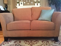 brown fabric 2-seat sofa Toronto, M9A 3S8