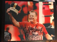 WWE JERRY THE KING LAWLER Autographed picture Philadelphia, 19148