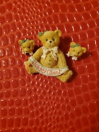 Cherished teddies Holiday Cheer pin and earrings Essex, 21221