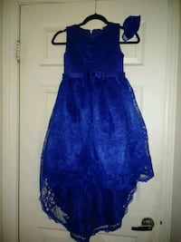 Blue girls party dress 2167 mi