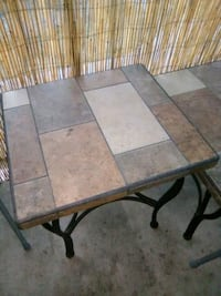 Large 2 Stone end tables and 1 coffee table