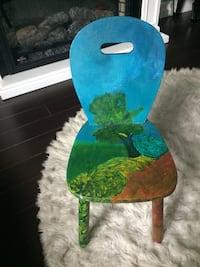 Hand painted wood kids chair Edmonton, T6K 4E1