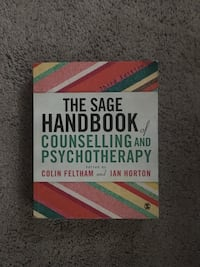 The sage handbook counselling and psychotherapy third edition  Richmond Hill, L4C 4N9