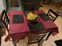 brown wooden dining table set 778 km