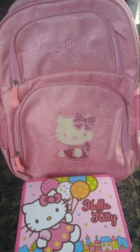 Hello Kitty back pack and lunch kit.  Winnipeg, R2L 0X1