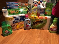 assorted-brand household cleaning product lot 1196 mi