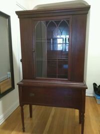 Antique vintage display cabinet