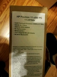 HP 2in1 laptop 11.6inch 4GB 500GB harddrive Rosedale, 21237