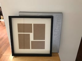 Crate and Barrel Wooden Black Structure Wall Frame (4x6 & 5x7 photos)