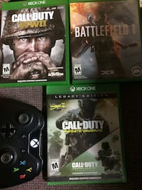 Cod ww2 15$ call of dut infinite warfare and cod4 remasterd 25$ battle field 1,, 14$ modded blackout elite control with manual 80 brand new original price 120$  Georgetown, 40324